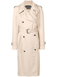Tom Ford Belted Trench Coat Neutrals
