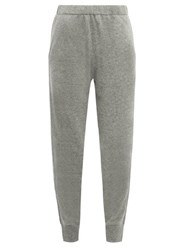 Allude Cuffed Ankle Cashmere Trousers Dark Grey