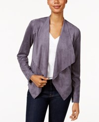 Kut From The Kloth Draped Open Front Blazer Dark Grey