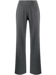 Salvatore Ferragamo Straight Leg Knitted Trousers Grey