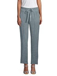 Saks Fifth Avenue Linen Drawstring Pants Olive