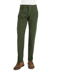 Brooks Brothers Red Fleece Ribbed Corduroy Pants Dark Green