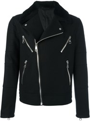 Neil Barrett Multi Pocket Biker Jacket Black