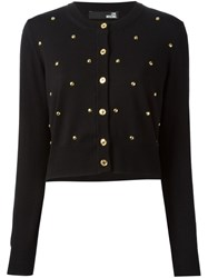 Love Moschino Studded Cardigan Black