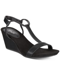 Style And Co Mulan Wedge Sandals Created For Macy's Women's Shoes Black