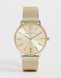 Armani Exchange Ax5536 Mesh Watch In Gold