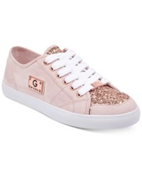 G By Guess Matrix Glitter Lace Up Sneakers Women's Shoes Pink Glitter