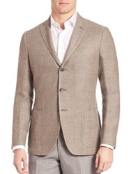 Saks Fifth Avenue Linen And Wool Sportcoat Sand