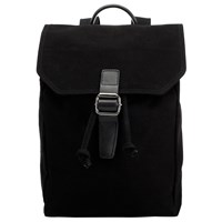 John Lewis Kingston Canvas Backpack Black