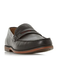 Howick Pudge Penny Loafers Black