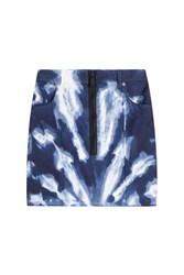 Dsquared2 Tie Dye Skirt Blue