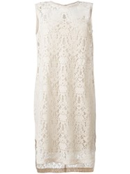 Dkny Sleeveless Lace Dress Nude And Neutrals