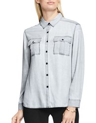 Vince Camuto Utility Long Sleeve Button Down Shirt Black