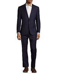 Polo Ralph Lauren Standard Fit Windowpane Wool Suit Navy