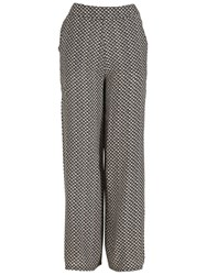 Izabel London Boucle Palazzo Style Trousers Black
