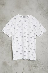 Forever 21 Palm Tree Hammock Print Tee