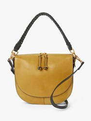 And Or Carmen Leather Saddle Cross Body Bag Ochre