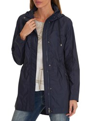 Betty Barclay Hooded Parka Coat Iris Blue