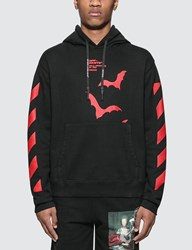Off White Diagonals Bats Slim Hoodie Black