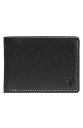 Men's Trask 'Jackson' Super Slim Leather Wallet Black