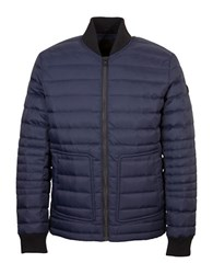 Orobos Long Sleeve Quilted Bomber Jacket Navy