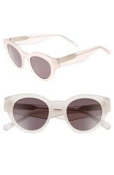 Elizabeth And James Women's Payton 48Mm Cat Eye Sunglasses White Smoke