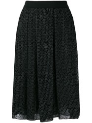 Giambattista Valli High Waisted Print Skirt Black
