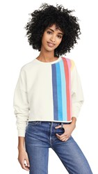 Re Done Crew Neck Sweatshirt With Stripes Off White