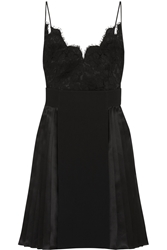 Givenchy Dress In Black Silk Satin Lace And Crepe
