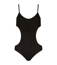 Missoni Mare Fringed Cut Out Swimsuit Female Black