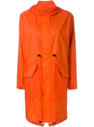 Julien David Hooded Parka Yellow And Orange