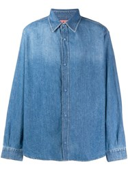 Acne Studios Quilted Denim Over Shirt Blue