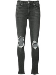 Levi's Distressed Skinny Jeans Black