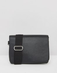 Monki Minimal Cross Body Bag With Wide Strap Black