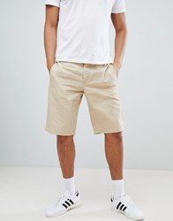 United Colors Of Benetton Linen Shorts In Beige Stone 1K3