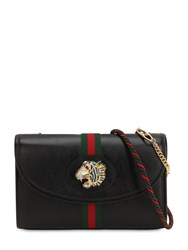 Gucci Tiger Rajah Leather Shoulder Bag Black
