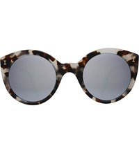 Illesteva Palm Beach Cat Eye Sunglasses White Tortoise With