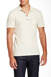 7 For All Mankind Raw Placket Polo White