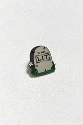Pintrill Lit Tombstone Pin Grey