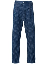 Sunnei Spot Pull Thread Trousers Blue