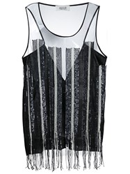 Aviu Aviu Sequin Embellished Tank Top Black
