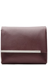 Jil Sander Leather Clutch Red
