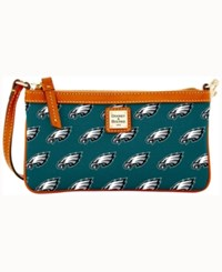 Dooney And Bourke Philadelphia Eagles Large Wristlet Green