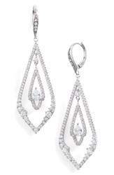 Jenny Packham Pave Drop Earrings Crystal