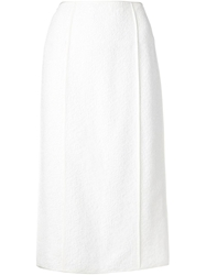 Jason Wu Corded Lace Pencil Skirt White