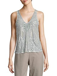Parker Alejandra Sequined Tank Top White