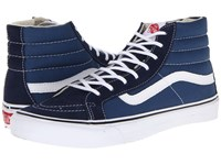 Vans Sk8 Hi Slim Core Classics Navy White Skate Shoes Blue