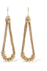Aurelie Bidermann Alhambra Gold Plated Earrings One Size