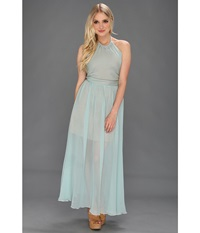 Bri Seeley Harper Maxi Dress Aqua Women's Dress Blue