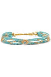Chan Luu Gold Plated Turquoise Bracelet One Size
